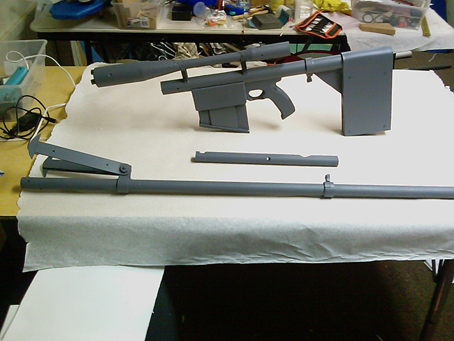Primed Prop Rifle - Ready to Paint