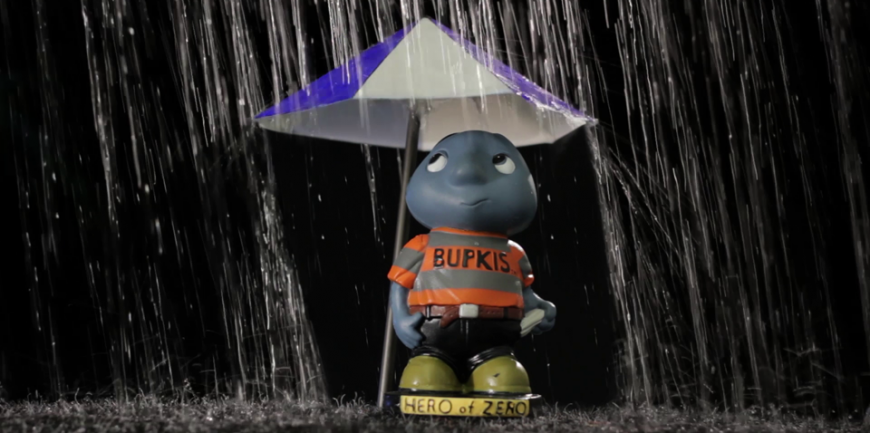 Bupkis in the Rain - Composited