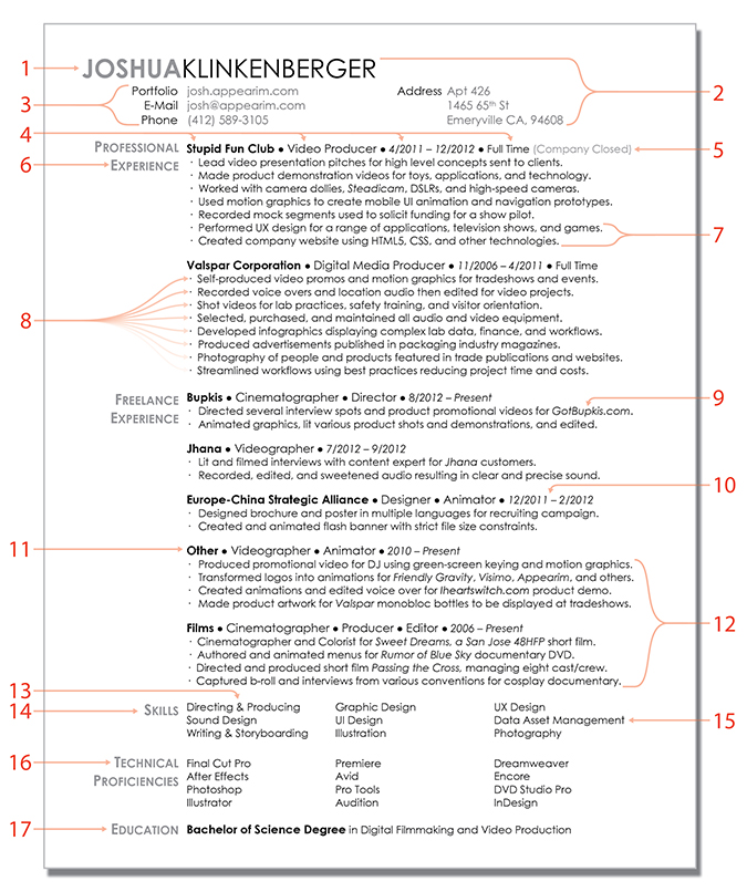 resume dissection josh klinkenberger post my resume online